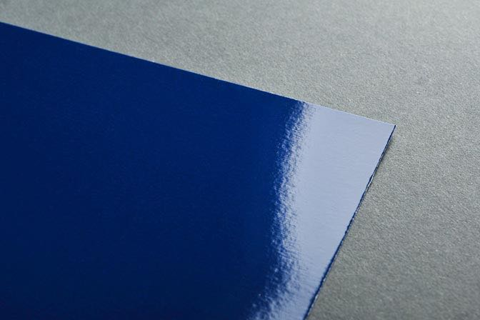 Blue Glaskote Business Card Stock