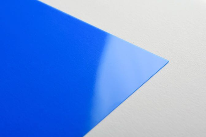Blue Plastic Business Card Stock
