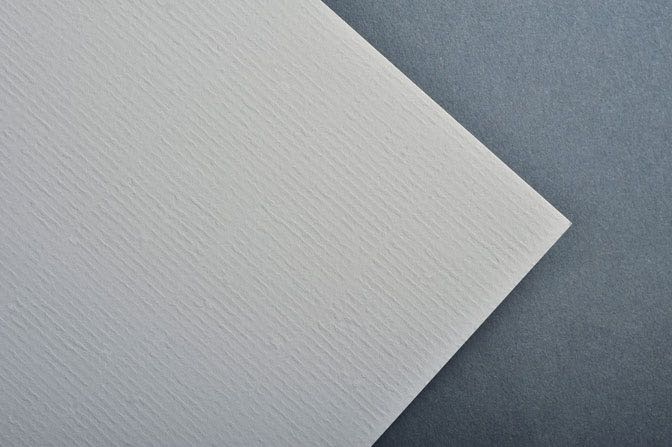 Gray Laid Business Card & Stationery Stock