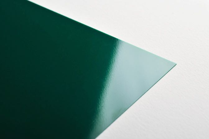 Green Plastic Business Card Stock