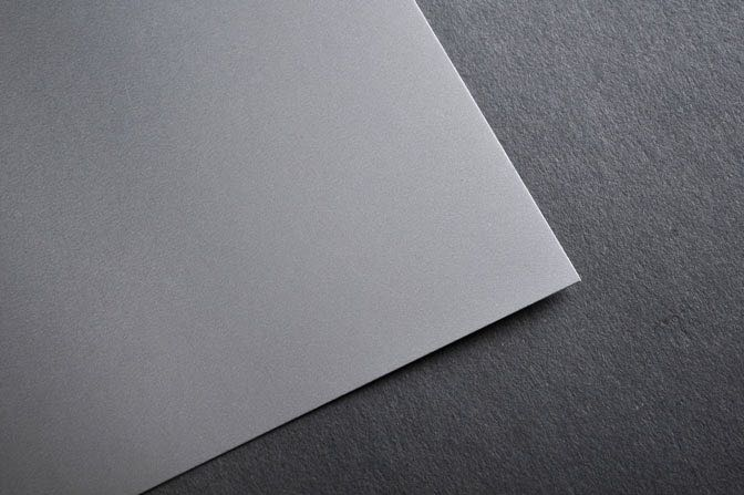 Silver Business Card Stock