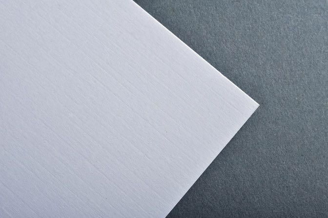 White Linen Business Card & Stationery Stock