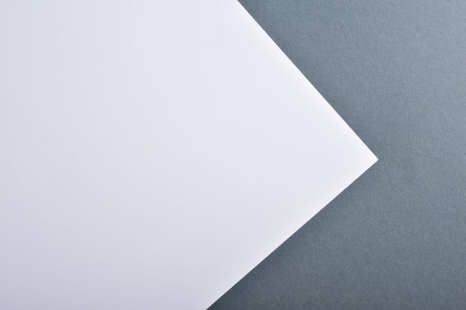 White Raglan Business Card Stock