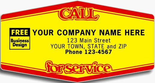 Tuff Shield Call for Service Labels