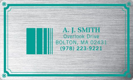 3 x 5 Weatherproof Plate Label