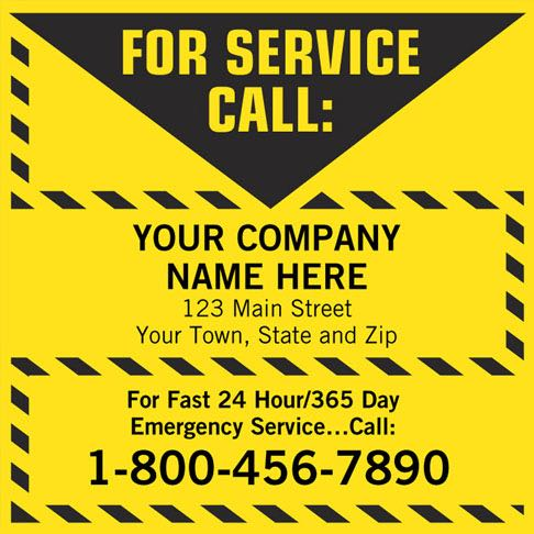 For Service Call Label