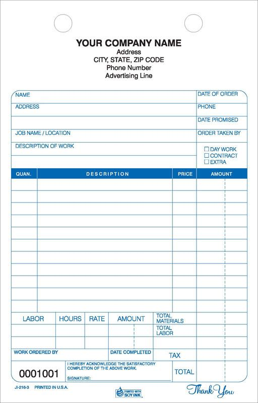Job Orders Work Orders  Invoices  C M Amos Printing Co