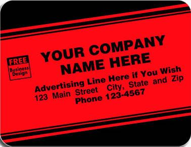 Tuff Shield Red Flourscent Labels