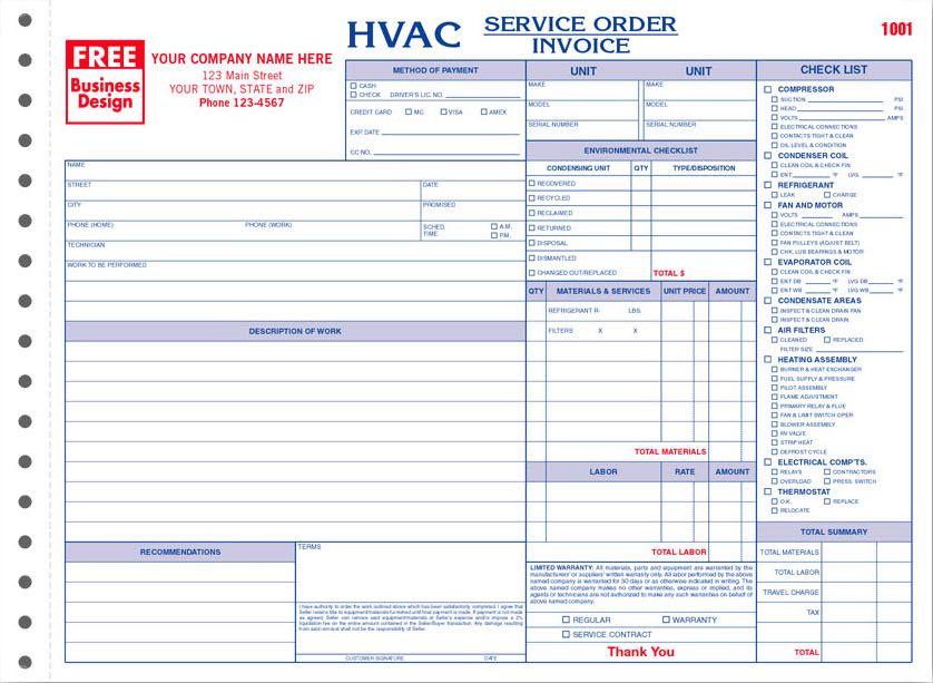 Hvac Forms