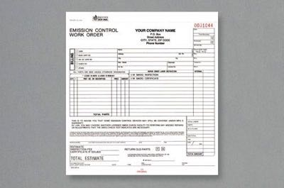 Emissions & Smog Control Forms