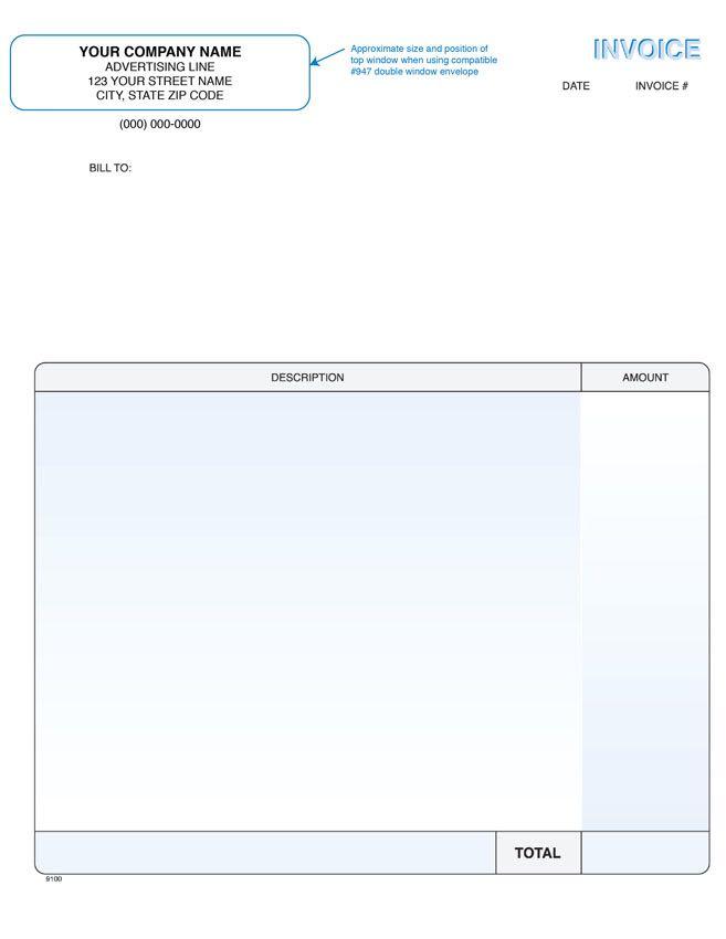QuickBooks Laser Forms C M Amos Printing Co - Quickbooks invoice envelope size