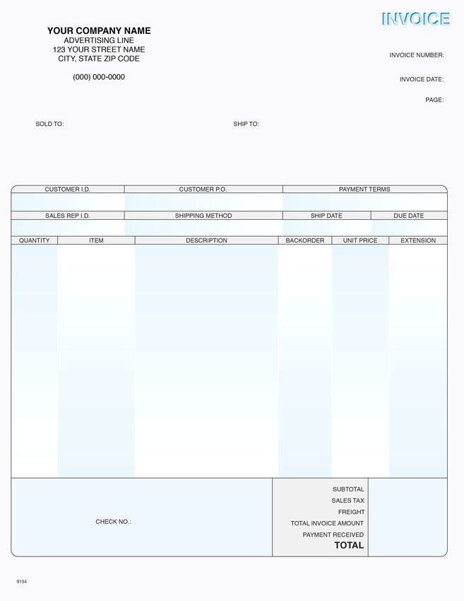 Peachtree Windows Product Invoice